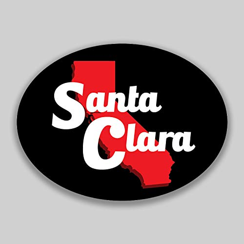 JMM Industries Santa Clara California City Vinyl Decal Sticker Car Window Bumper Yeti Planner Organizer 2 Pack 4.5-Inches by 3.5-Inches Premium Quality UV Protective Laminate PDS1624 ()