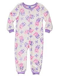 Peppa Pig Girls Sleeper Onesie - Fleece Pajamas for Toddlers