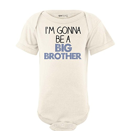 (Apericots I'm Gonna Be a Big Brother Short Sleeve Baby Bodysuit)