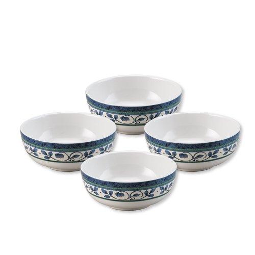 Flow Blue Soup Bowl - Pfaltzgraff Orleans Set of 4 Soup Cereal Bowls - B