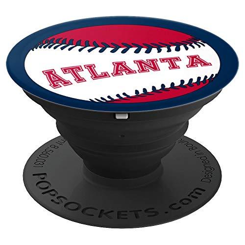 Atlanta Design - Atlanta Baseball - Design Series - PopSockets Grip and Stand for Phones and Tablets