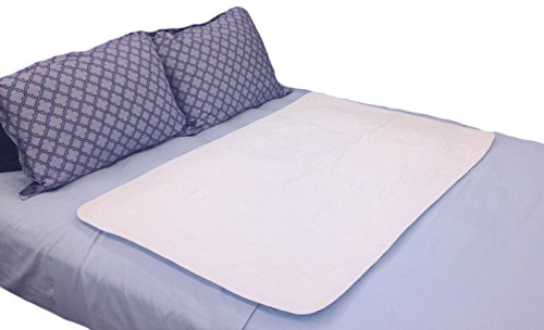 Large Premium Absorbent Waterproof Bed Pad (34Wx52L) - Washable 300x for Underpad Incontinence Protection for Adult, Child, or Pets by Sequoia Health