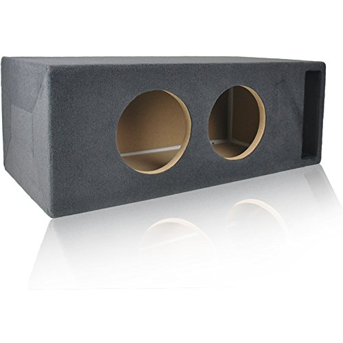1.5 Cu. Ft. Ported/Vented MDF Sub Woofer Enclosure for Pair of 8″ Car Subwoofers (1.5 ft^3 @ 34Hz) Made in U.S.A.