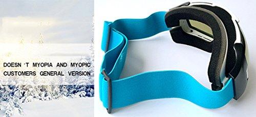 E Impermeable Esquí Antiniebla Green Explosiones De Pc Prueba Gafas Esféricas Grandes Viento A RqW8Cw