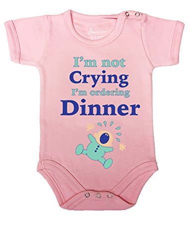 #6 BABY ROMPER SHORT ONESIE UNISEX FUNNY I'M NOT CRYING GIFT WRAPPED A&G BRAND (3-6 M, (Juegos De Top Baby Games Halloween)