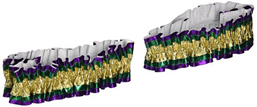 Mardi Gras Arm Bands  Gold  Green  Purple      2 Pkg