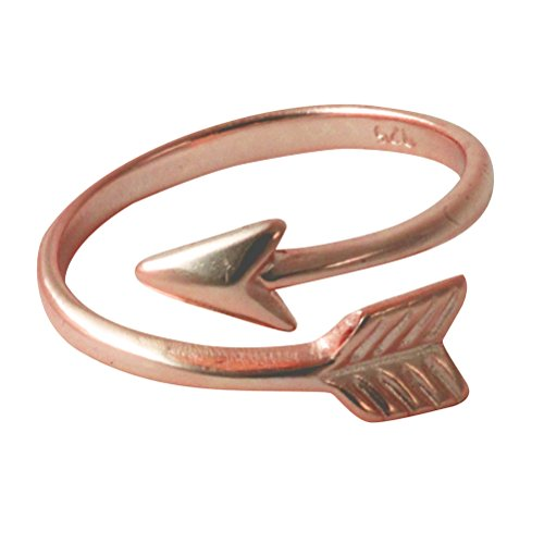 apop nyc Rose Goldtone Sterling Silver Chevron Arrow Wrap Ring size 9 (rose-goldtone-silver) (Ring Wrap Arrow)