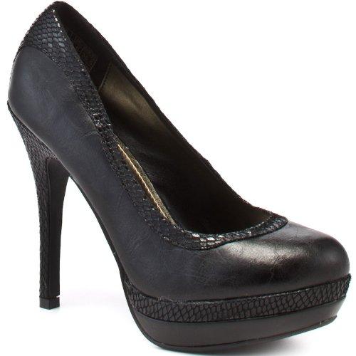 Baby Phat Chance - Black PU, Size 8 Baby Phat Heels