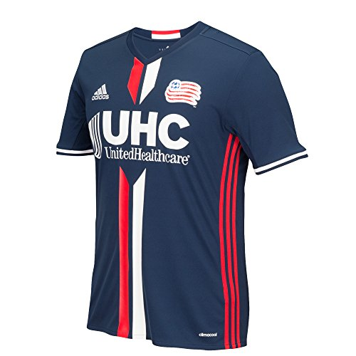 MLS New England Revolution Men's Replica Short Sleeve Team Jersey, Dark Indigo, Large