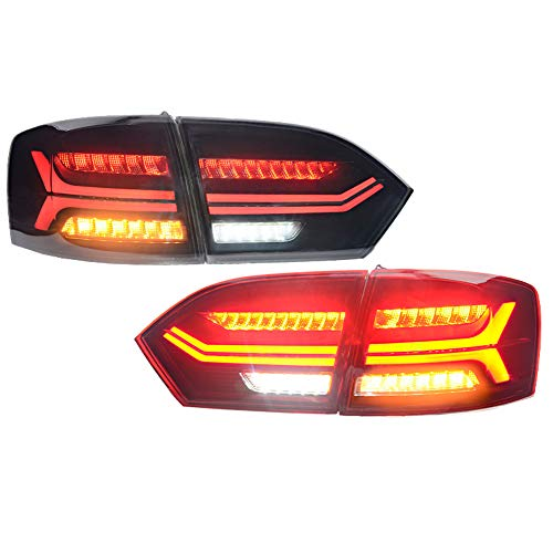 (Car Styling LED Tail Lamp For Volkswagen Jetta 11-14 LED Rear Lamp Brake Reverse Light Rear Back Up Lamp DRL Car Taillights,1 Years Warranty,1 Pair)