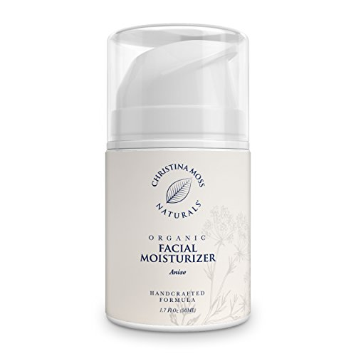Facial Moisturizer - Organic & Natural Ingredients Face Moisturizing Cream for All Skin Types - Sensitive, Oily, Dry, Severely Dry - Anti-Aging & Anti-Wrinkle for Women & Men - Christina Moss Naturals (Best Natural Moisturizer With Spf For Oily Skin)