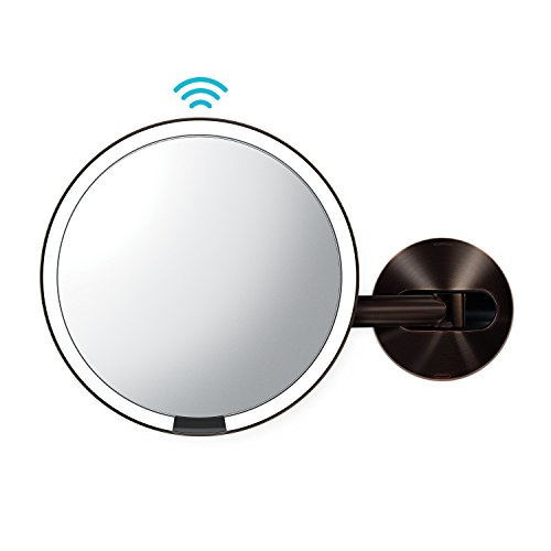 simplehuman Wall Mount Sensor Makeup Mirror, Dark Bronze -