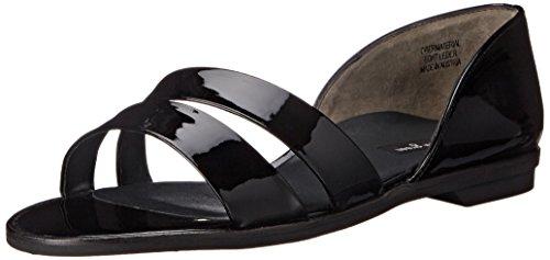 Paul Green Wynn Slide Sandal Black Patent