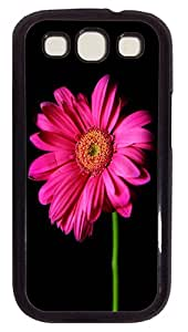 ICORER Top Rated Samsung Galaxy S3 Case Hot Pink Gerber Daisy PC Hard Case Cover for Samsung Galaxy S3 Black