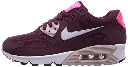 reputable site 6abbf d682a Nike Air Max 90 Essential, Baskets Basses Femme, Rouge (Villain Red White  Champagne Pink PW 600), 40.5 EU  Amazon.fr  Chaussures et Sacs