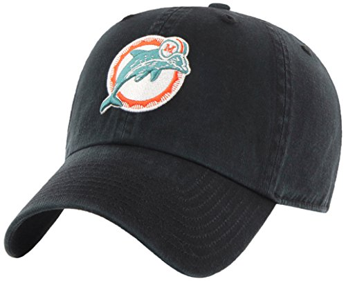 Nfl Miami Dolphins Hat (NFL Miami Dolphins Legacy OTS Challenger Adjustable Hat, One Size, Black)