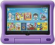 """Fire HD 8 Kids tablet, 8"""" HD display, ages 3-7, 32 GB, Purple Kid-Proof"""