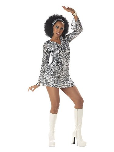 California Costumes Women's Disco Diva, As Shown, Small (6-8) (A Gogo Costume)