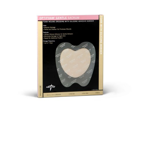 Medline MSC20109EP OptiFoam Gentle Border Adhesive Dressings, Large (Case of 50)