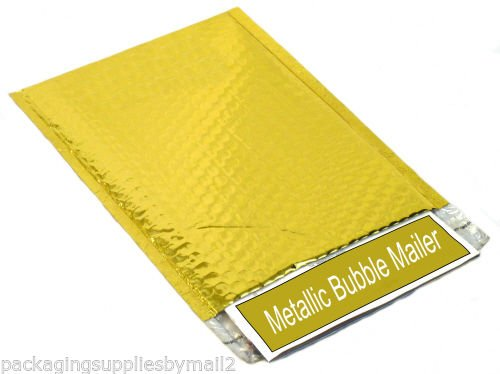 Metallic Glamour Bubble Mailers Padded Envelope Bags 7'' x 6.75'' Gold 250 / Case by PackagingSuppliesByMail
