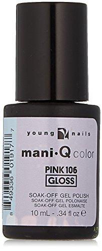 Young Nails Color Mani Q Nail Polish, Pink 106, 0.34 Fluid O