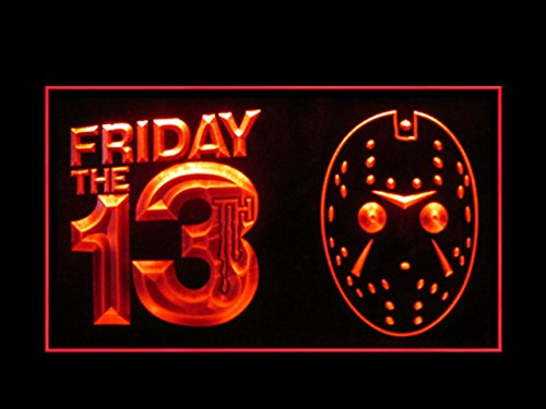 Friday The 13 Jason Voorhees Mask Halloween Advertising Led Light Sign -