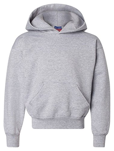 Champion CY4C CH Youth Sweatshirt Hood - Light Steel - Large