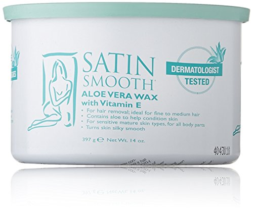 Satin Smooth Aloe Vera Pot Wax, 14 Ounce