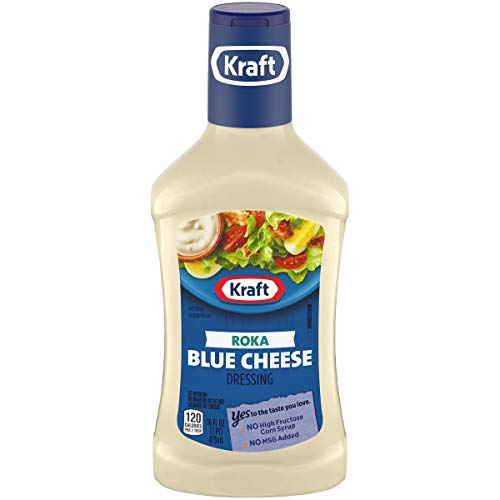 Kraft Roka Blue Cheese Dip & Dressing (16 oz Bottles, Pack of 6)