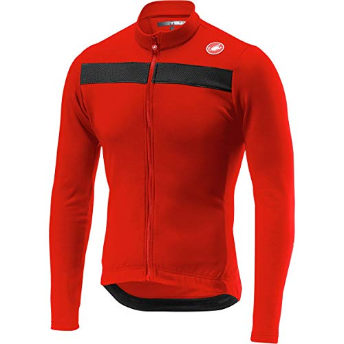 (Castelli Puro 3 Jersey - Men's Red, L )