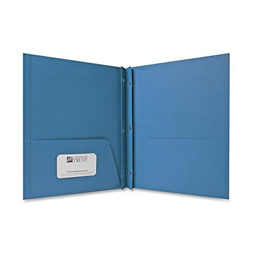 (Sparco 71442 2-Pocket Folders,w/Fasteners,1/2-Inch Cap,Letter,25BX,Light Blue)