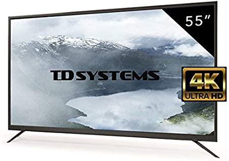 Televisores Led 55 Pulgadas UHD 4K TD Systems K55DLM7U. Resolución Ultra HD 4K, 3x HDMI, VGA, USB Reproductor y Grabador, Tv Led TDT HD DVB-T2: Amazon.es: Hogar