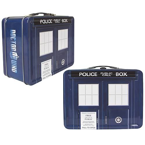 Doctor Who Limited Edition TARDIS Tin Tote Lunch Box]()