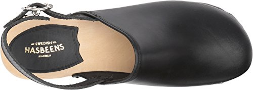 hasbeens Women's Black Jill Clog swedish fd84wxqZZ