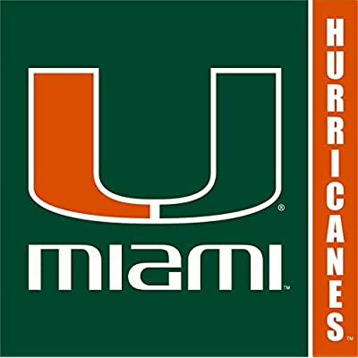 Westrick Miami Hurricanes Party Supplies - Serves 16 (64 Pieces): Sports & Outdoors