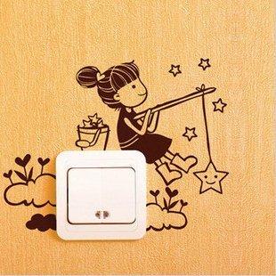 Adesivi vinile decorativo wall decor sticker per spina e interruttore, 20 colori di scegliere SUPER STICKER