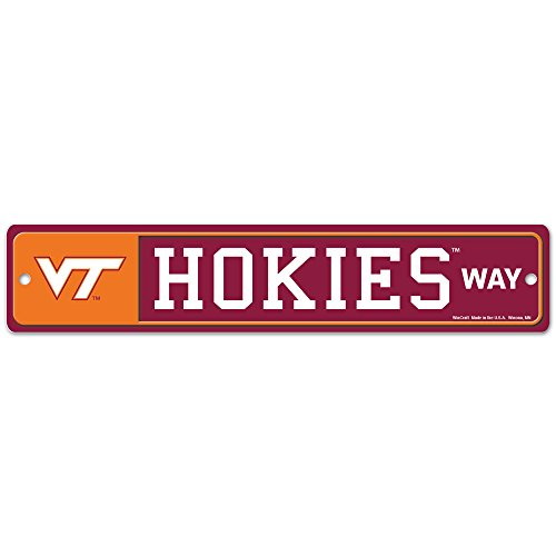 NCAA Virginia Tech 37901010 Street/Zone Sign, 4.5'' x 17'' by WinCraft