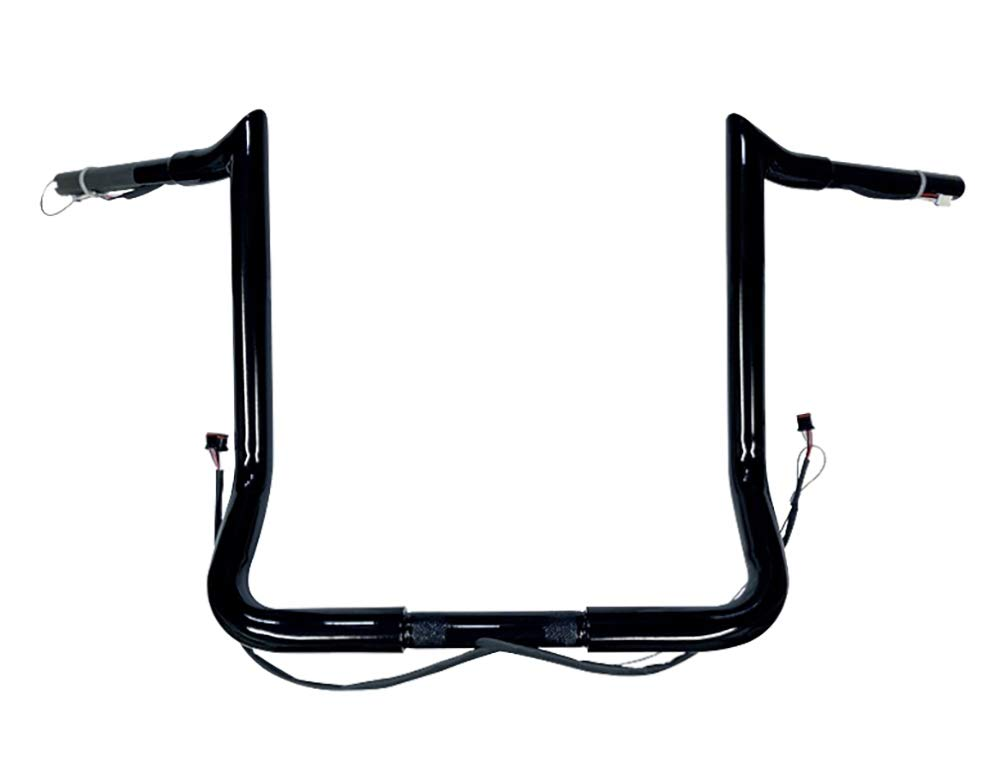 Dominator Industries 1 1//4 PRE-WIRED 14 Meathook Monkey Bar Ape Hangers Handlebars 2014-2020 Harley-Davidson Bagger Electra /& Street Glide Special Ultra Limited /& Low Chrome