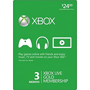 Xbox 360 Live 3 Month Gold Card - 3 Months Edition