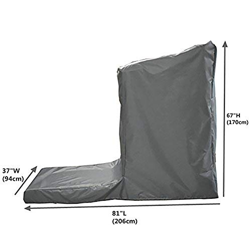 Protective Exercise Treadmills Cover, Weather Resistant Running Machine Cover, Heavy Duty Cardio Traning Fitness Equipment Cover for Indoor and Outdoor Using (L: 81'' Long x 37'' Wide x 67'' High) by Hersent (Image #1)