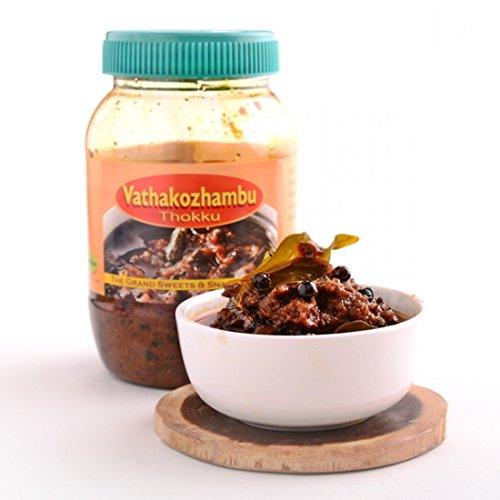 The Grand Sweets (Chennai) Vathakozhambu Thokku South Indian Chutney Pickle - 500 gm (Best Ghee Brand In Chennai)