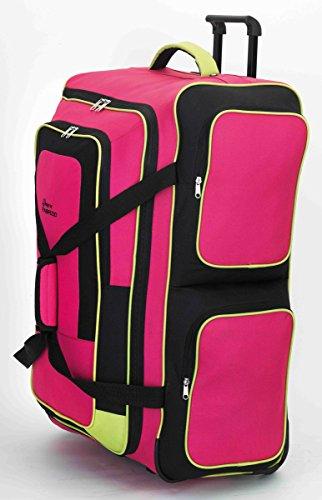 XXL Trolleytasche Reise Trolley tasche Sporttasche Bunt mit Extra vielen Staufächern Fa. Bowatex