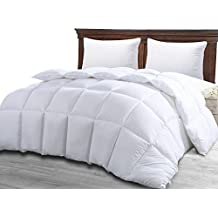Comforter Duvet Insert White - Quilted Comforter with Corner Tabs - Hypoallergenic, Plush Siliconized Fiberfill, Box Stitched Down Alternative Comforter by Utopia Bedding (Twin 64-by-88 inch)