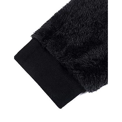 iWoo Men's Warm Fleece Hoodie Fluffy Pullover Viscose Sweater Sweatshirt with Two Pockets 4