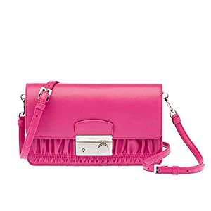 Prada Women's Nappa Gauffre Clutch Hand Bag BT1034 Pink