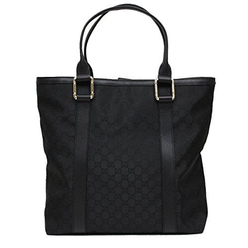 Black Leather Gucci Bag With Bamboo Handle - 1