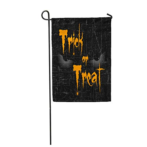 Semtomn Garden Flag Scary Halloween Eyes Creative Text of Trick Treat 28