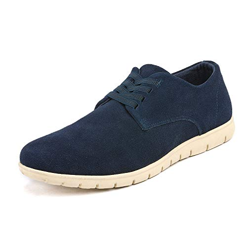 Bruno Marc Men's Navy Oxford Fashion Sneaker Casual Dress Sneakers - 8.5 M US