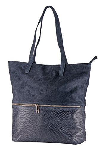 Italy Soft Bag Made Dori 100 Suede Black In Borderline TCwFtq4