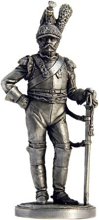 French Cuirassier Tin Toy Soldiers Metal Sculpture Miniature Figure Collection 54mm (scale 1/32) (Nap-27)